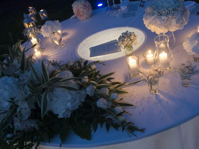 Matrimonio moderno con  ortensia bianca