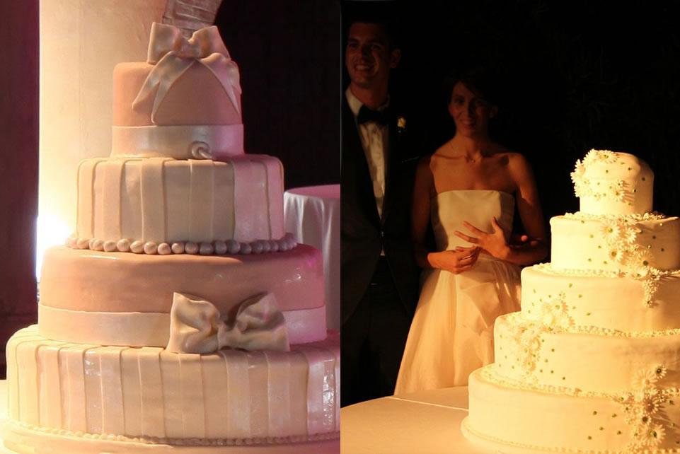 Torta aurora dedicata agli sposi con passione